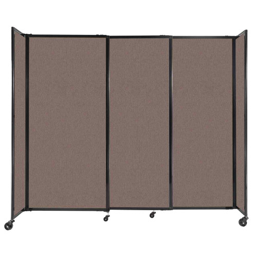 """StraightWall Sliding Portable Partition 7'2"""" x 6' Latte Fabric"""