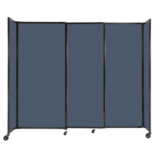 """StraightWall Sliding Portable Partition 7'2"""" x 6' Ocean Fabric"""