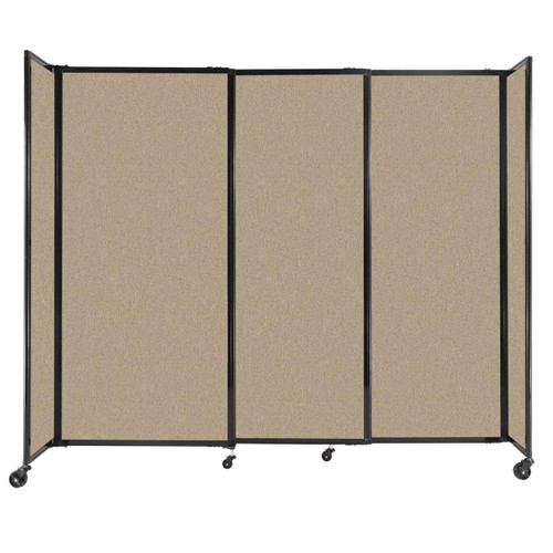 """StraightWall Sliding Portable Partition 7'2"""" x 6' Rye Fabric"""