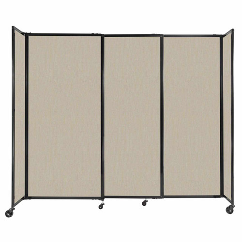 """StraightWall Sliding Portable Partition 7'2"""" x 6' Sand Fabric"""