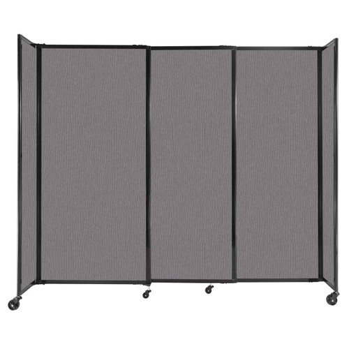 """StraightWall Sliding Portable Partition 7'2"""" x 6' Slate Fabric"""