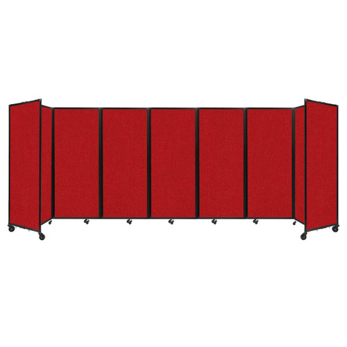 """Room Divider 360 Folding Portable Partition 19'6"""" x 6'10"""" Red Fabric"""