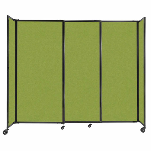 """StraightWall Sliding Portable Partition 7'2"""" x 6' Lime Green Fabric"""