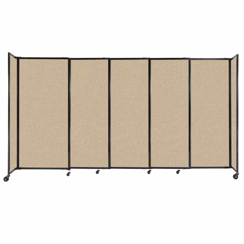 """StraightWall Sliding Portable Partition 11'3"""" x 6' Beige Fabric"""