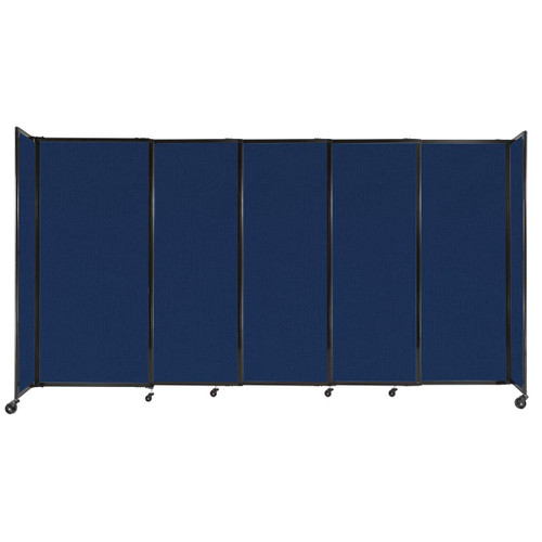"""StraightWall Sliding Portable Partition 11'3"""" x 6' Navy Blue Fabric"""