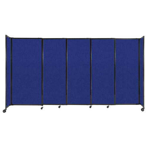 """StraightWall Sliding Portable Partition 11'3"""" x 6' Royal Blue Fabric"""