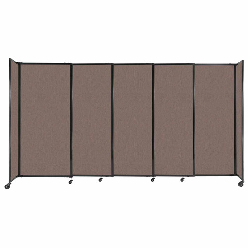 """StraightWall Sliding Portable Partition 11'3"""" x 6' Latte Fabric"""