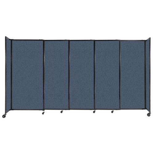 """StraightWall Sliding Portable Partition 11'3"""" x 6' Ocean Fabric"""