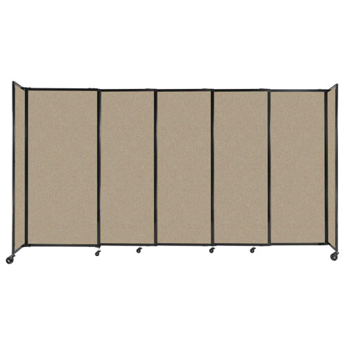 """StraightWall Sliding Portable Partition 11'3"""" x 6' Rye Fabric"""