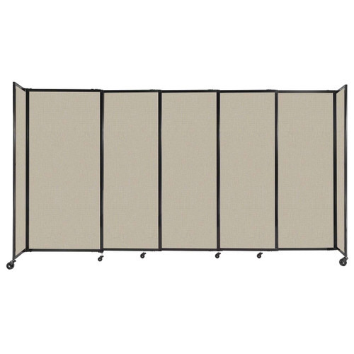 """StraightWall Sliding Portable Partition 11'3"""" x 6' Sand Fabric"""