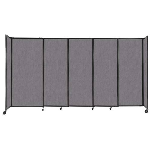"""StraightWall Sliding Portable Partition 11'3"""" x 6' Slate Fabric"""