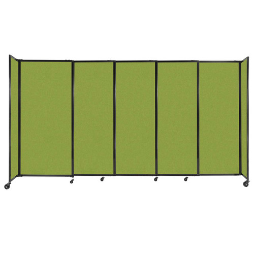 """StraightWall Sliding Portable Partition 11'3"""" x 6' Lime Green Fabric"""