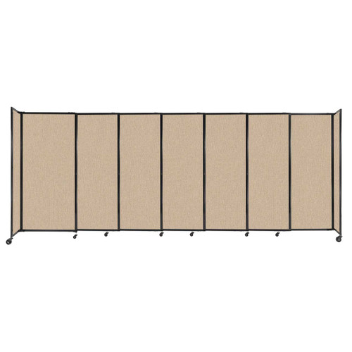 """StraightWall Sliding Portable Partition 15'6"""" x 6' Beige Fabric"""