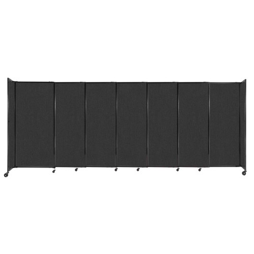 """StraightWall Sliding Portable Partition 15'6"""" x 6' Black Fabric"""