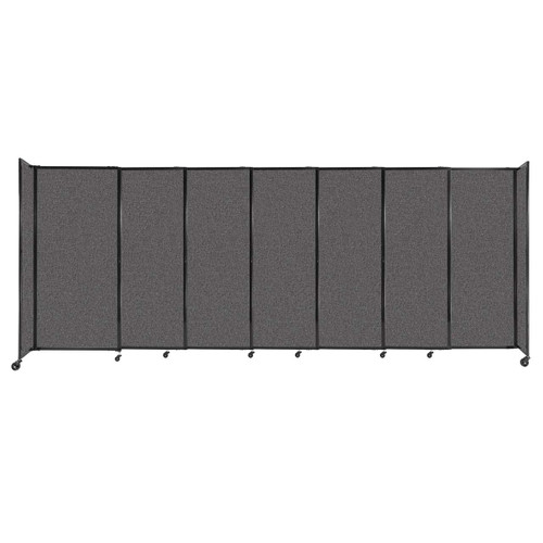 """StraightWall Sliding Portable Partition 15'6"""" x 6' Charcoal Gray Fabric"""