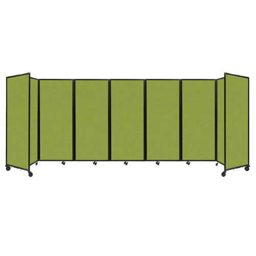 """Room Divider 360 Folding Portable Partition 19'6"""" x 6'10"""" Lime Green Fabric"""