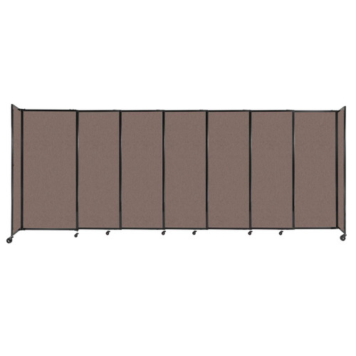 """StraightWall Sliding Portable Partition 15'6"""" x 6' Latte Fabric"""