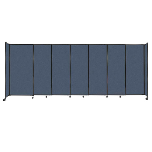 """StraightWall Sliding Portable Partition 15'6"""" x 6' Ocean Fabric"""