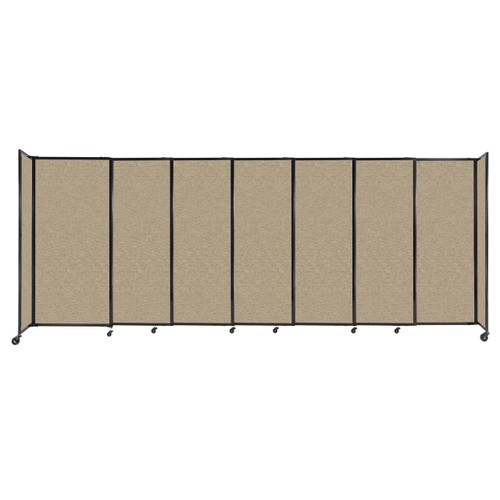 """StraightWall Sliding Portable Partition 15'6"""" x 6' Rye Fabric"""