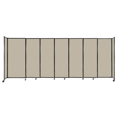 """StraightWall Sliding Portable Partition 15'6"""" x 6' Sand Fabric"""