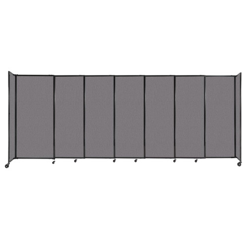 """StraightWall Sliding Portable Partition 15'6"""" x 6' Slate Fabric"""