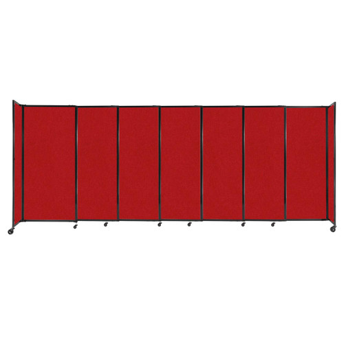 """StraightWall Sliding Portable Partition 15'6"""" x 6' Red Fabric"""