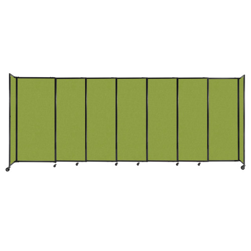 """StraightWall Sliding Portable Partition 15'6"""" x 6' Lime Green Fabric"""
