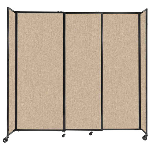 """StraightWall Sliding Portable Partition 7'2"""" x 6'10"""" Beige Fabric"""