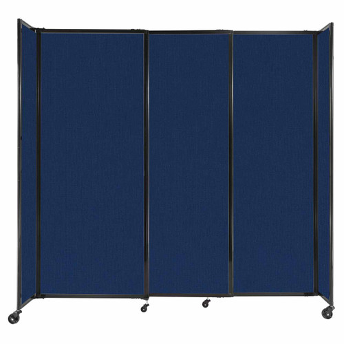"""StraightWall Sliding Portable Partition 7'2"""" x 6'10"""" Navy Blue Fabric"""