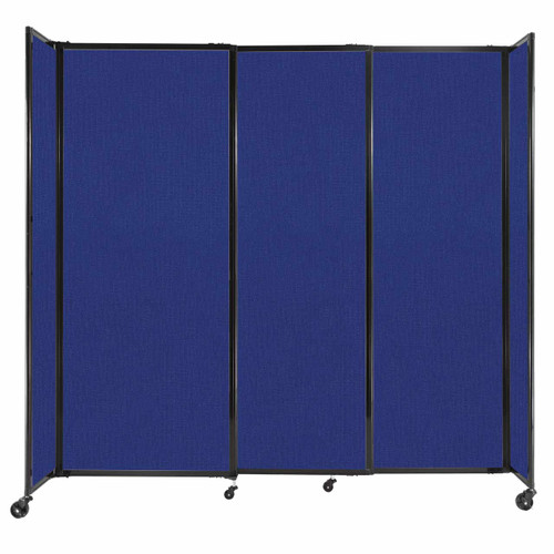 """StraightWall Sliding Portable Partition 7'2"""" x 6'10"""" Royal Blue Fabric"""