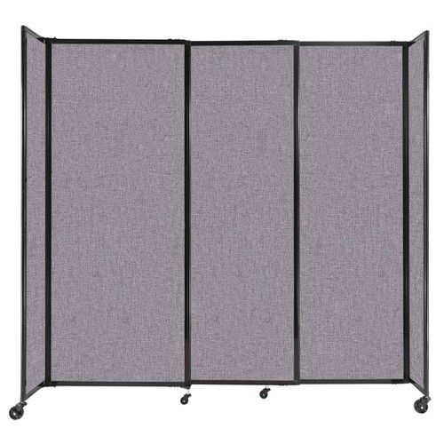 """StraightWall Sliding Portable Partition 7'2"""" x 6'10"""" Cloud Gray Fabric"""