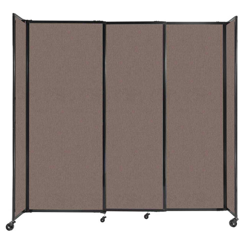 """StraightWall Sliding Portable Partition 7'2"""" x 6'10"""" Latte Fabric"""