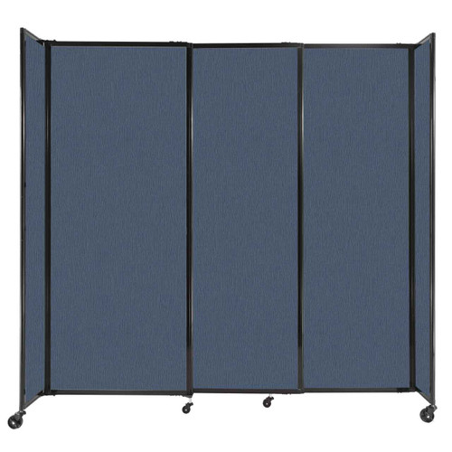 """StraightWall Sliding Portable Partition 7'2"""" x 6'10"""" Ocean Fabric"""
