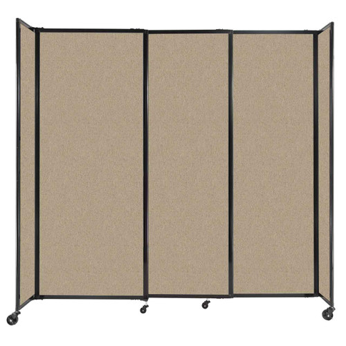 """StraightWall Sliding Portable Partition 7'2"""" x 6'10"""" Rye Fabric"""