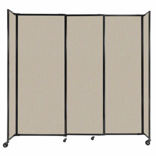 """StraightWall Sliding Portable Partition 7'2"""" x 6'10"""" Sand Fabric"""