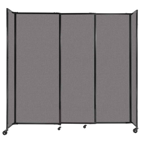 """StraightWall Sliding Portable Partition 7'2"""" x 6'10"""" Slate Fabric"""