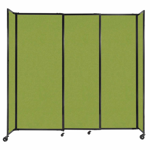 """StraightWall Sliding Portable Partition 7'2"""" x 6'10"""" Lime Green Fabric"""