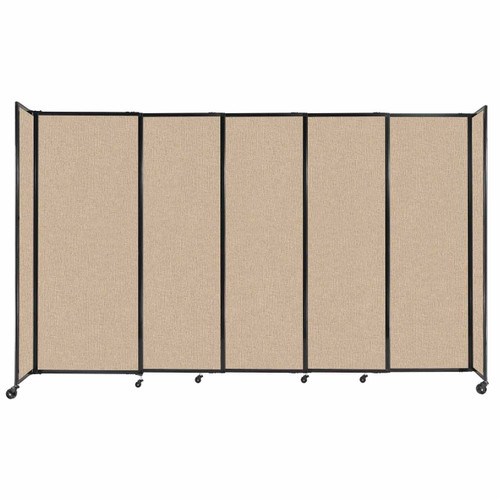 """StraightWall Sliding Portable Partition 11'3"""" x 6'10"""" Beige Fabric"""