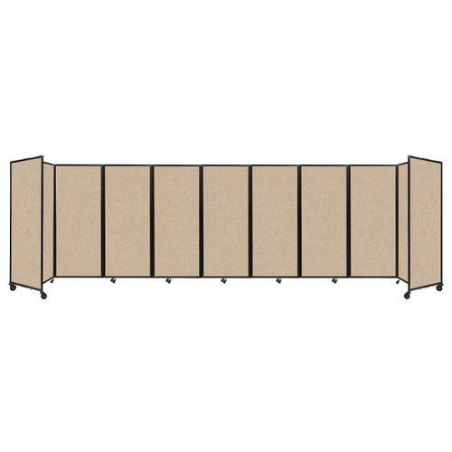 """Room Divider 360 Folding Portable Partition 25' x 6'10"""" Beige Fabric"""