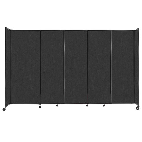 """StraightWall Sliding Portable Partition 11'3"""" x 6'10"""" Black Fabric"""