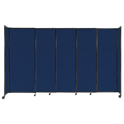 """StraightWall Sliding Portable Partition 11'3"""" x 6'10"""" Navy Blue Fabric"""