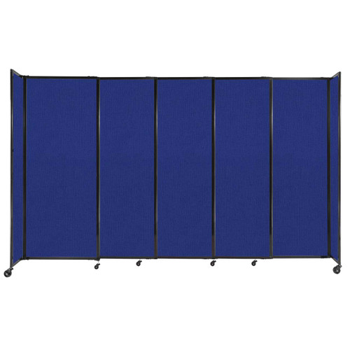 """StraightWall Sliding Portable Partition 11'3"""" x 6'10"""" Royal Blue Fabric"""