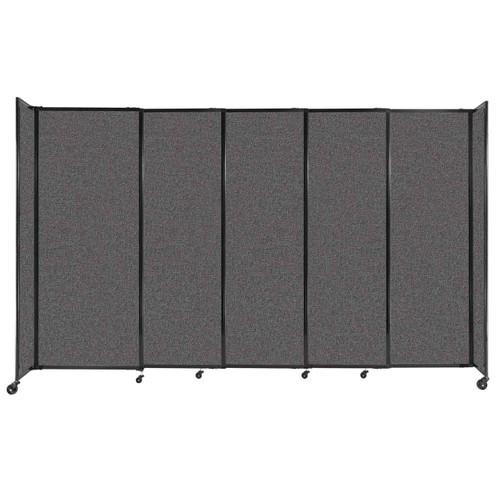 """StraightWall Sliding Portable Partition 11'3"""" x 6'10"""" Charcoal Gray Fabric"""