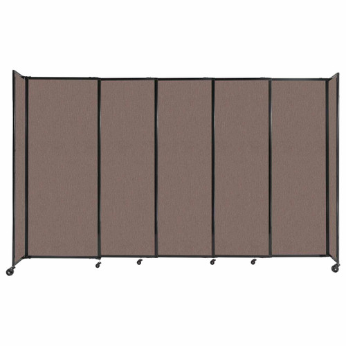 """StraightWall Sliding Portable Partition 11'3"""" x 6'10"""" Latte Fabric"""