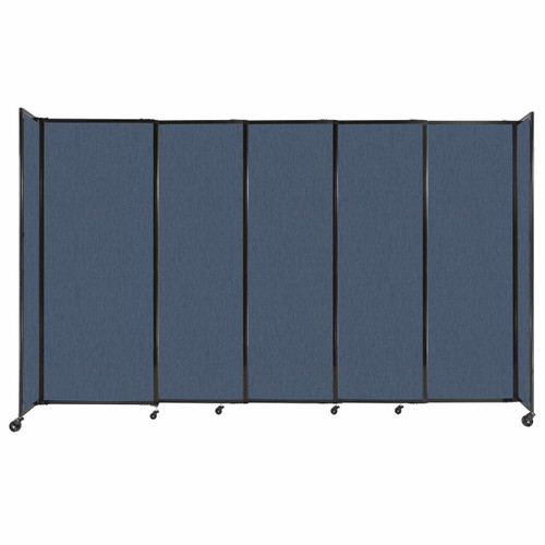 """StraightWall Sliding Portable Partition 11'3"""" x 6'10"""" Ocean Fabric"""