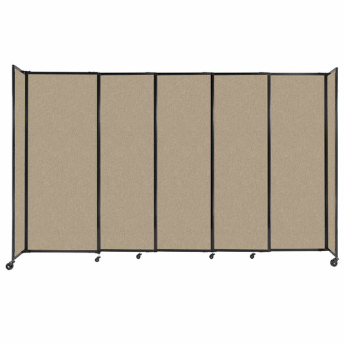 """StraightWall Sliding Portable Partition 11'3"""" x 6'10"""" Rye Fabric"""
