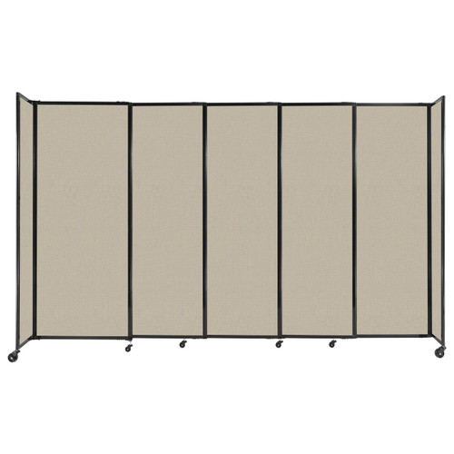 """StraightWall Sliding Portable Partition 11'3"""" x 6'10"""" Sand Fabric"""