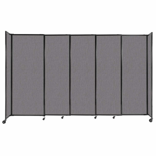 """StraightWall Sliding Portable Partition 11'3"""" x 6'10"""" Slate Fabric"""