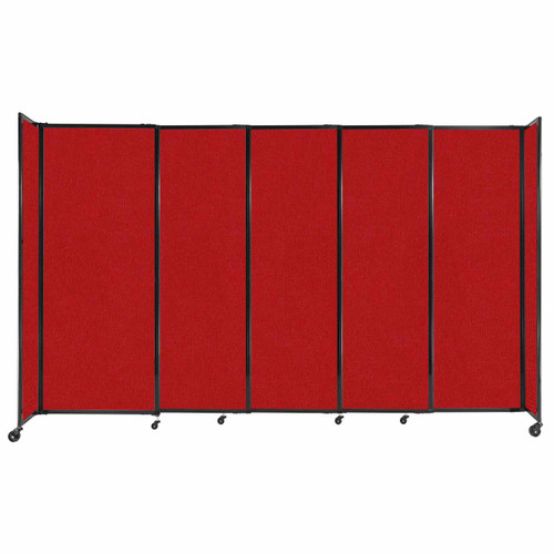 """StraightWall Sliding Portable Partition 11'3"""" x 6'10"""" Red Fabric"""