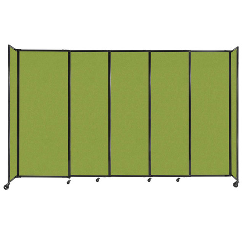 """StraightWall Sliding Portable Partition 11'3"""" x 6'10"""" Lime Green Fabric"""